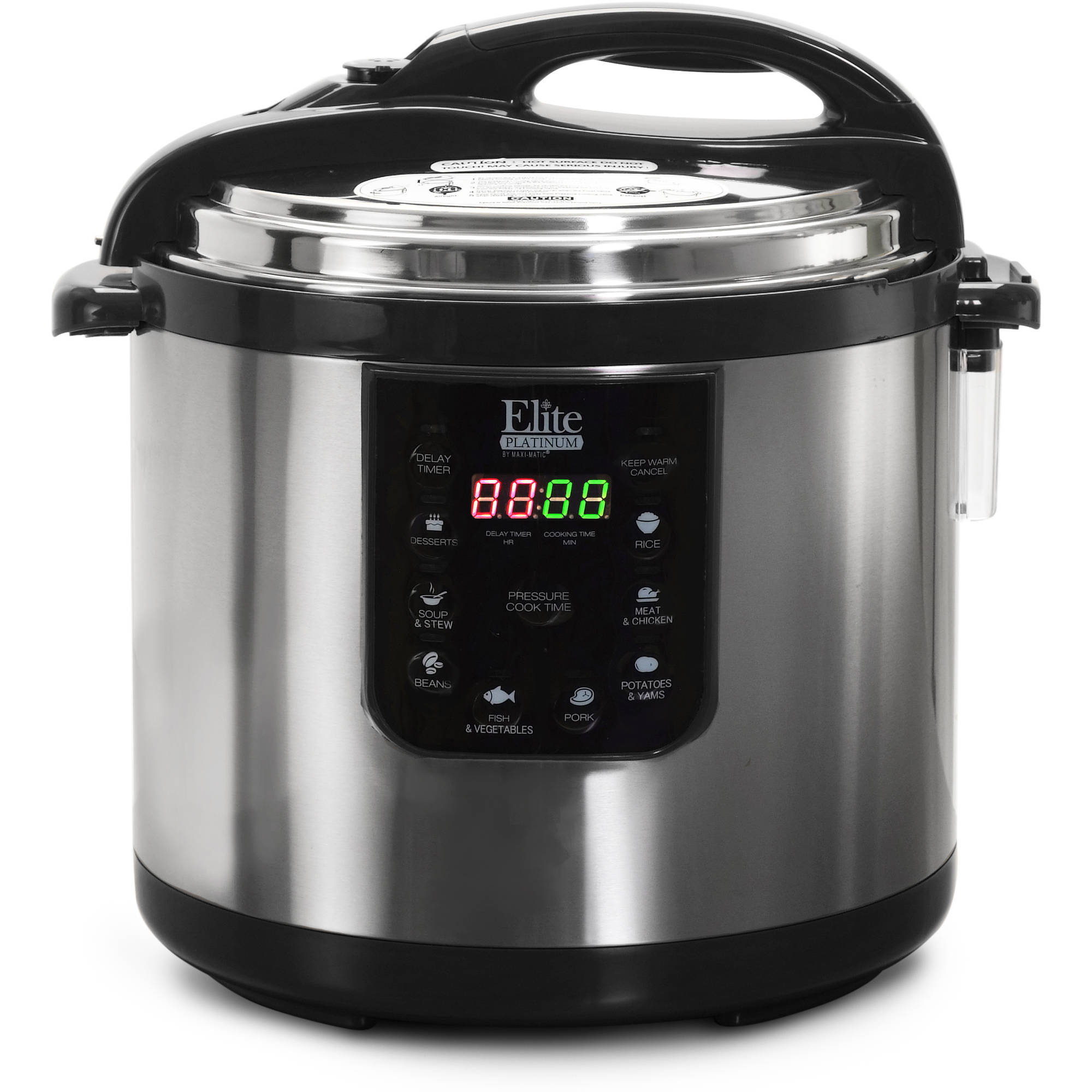 Elite Platinum EPC-1013 10 Quart Electric Pressure Cooker, Stainless Steel