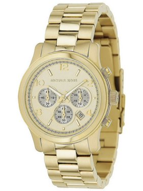 5a1fc74aa8d7 Product Image Michael Kors Copper Midsized Round Dial Chronograph Women  Quartz Wristwatch Mk5055