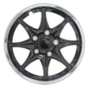 Black Chrome 15 in. Wheel Cover Set (Set of 4 Covers)