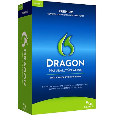 Nuance K609A-G00-11.0 Dragon NaturallySpeaking Premium Version 11 Speech Recognition Software with Microphone