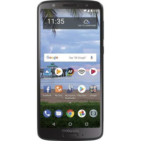 Straight Talk Motorola g6, 32GB, Black - Prepaid Smartphone