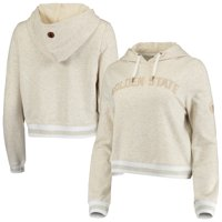 Golden State Warriors FISLL Women's Cropped Pullover Hoodie - Natural