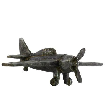 Resin Propeller Airplane Figurine Black