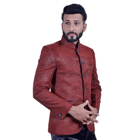 Brick Red Blazer for Men. This product is custom made to order. - image 4 of 5