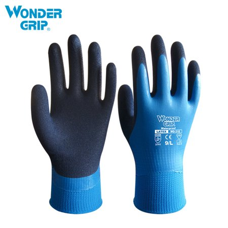 Wonder Grip Thermo Plus Coldproof Work Gloves Double Layer Latex Coated Protection Gardening Fishing Working