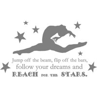 """Gymnastics Quote - Girl's Vinyl Bedroom Decor 