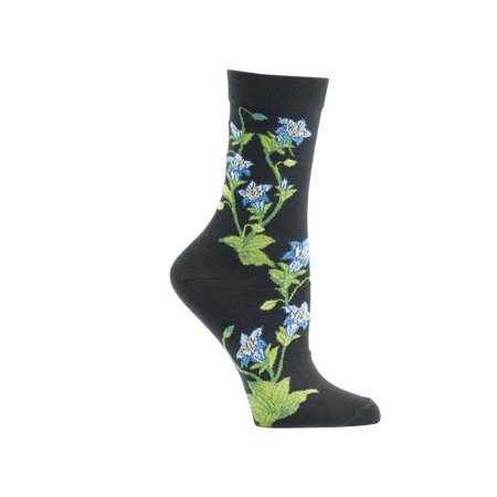 Women's Witches' Garden and Apothecary Floral Socks - Cotton - Gentian](Witch Socks)