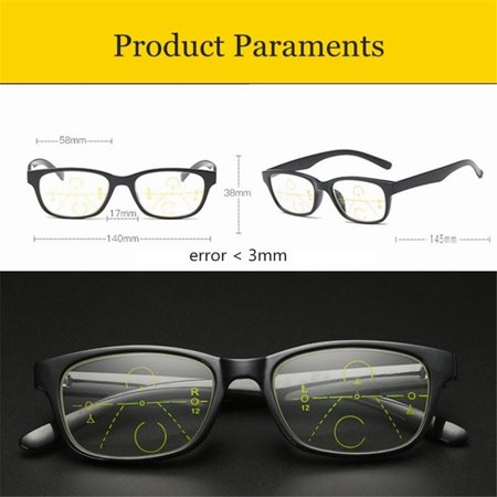 Intelligent Reading Glasses Progressive Multifocal Lens Presbyopia Anti Fatigue +1.0 +1.5 +2.0 +2.5 +3.0