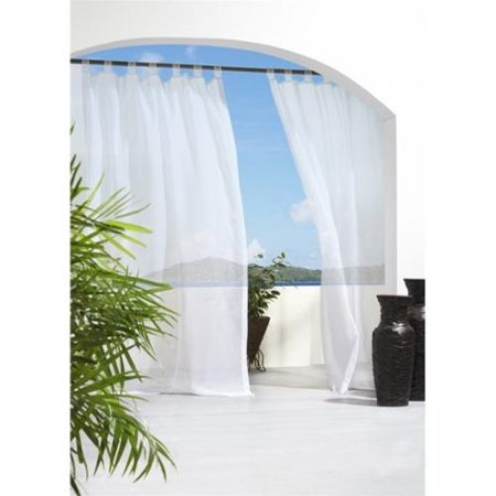 Commonwealth Outdoor Decor Escape 84 Tab Curtain Panel In White