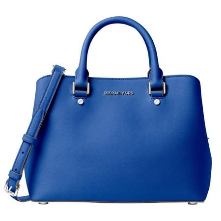 46ba4afff5e1 MICHAEL Michael Kors - Michael Kors Savannah Medium Electric Blue Satchel  Handbag - Walmart.com