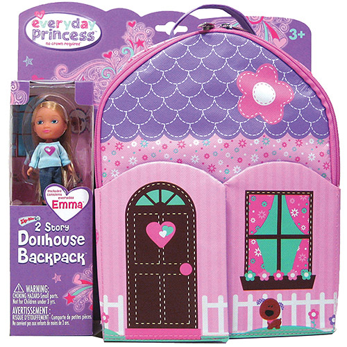 Neat-Oh! Everyday Princess ZipBin 40 Doll Dollhouse Backpack with 1 Doll