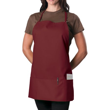 Unisex 3 Pocket Adjustable Bib Apron, Up to 60-Pack