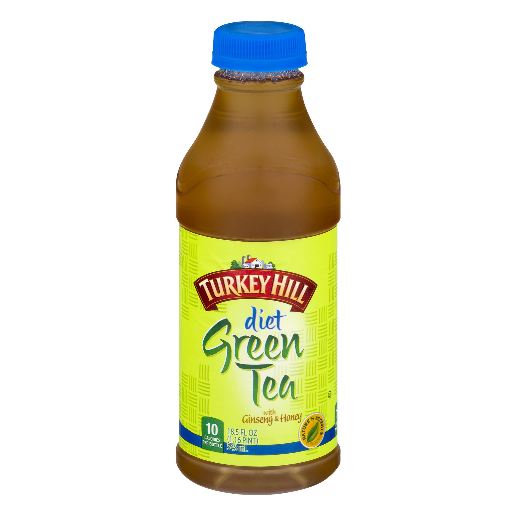 Turkey Hill Diet Green Tea with Ginseng & Honey, 18.5 Fl. Oz.