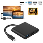 USB Type-C to HDMI Adapter, TSV USB C to HDMI Converter Cable Cord 4K Type C to HDMI Female Cable Compatible with MacBook Pro, Asus, HP, Dell, Samsung Galaxy and Huawei - Mirror & Extend Mode