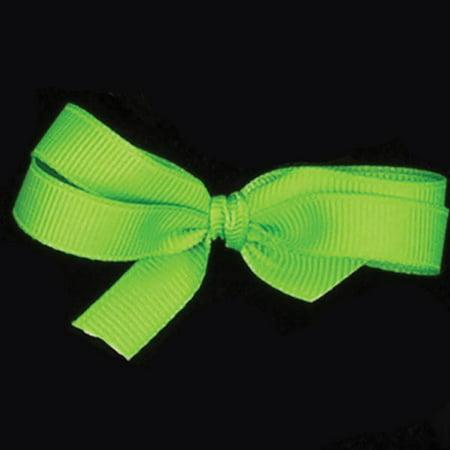 Set of 4 Lime Green Grosgrain Woven Edge Ribbon 1