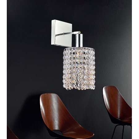 Eurofase Lighting Crystal Sconce - Crystal World 1 Light Chrome Bathroom Sconce
