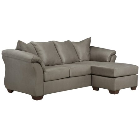 Flash Furniture Microfiber Right Facing Sectional in Cobblestone ()