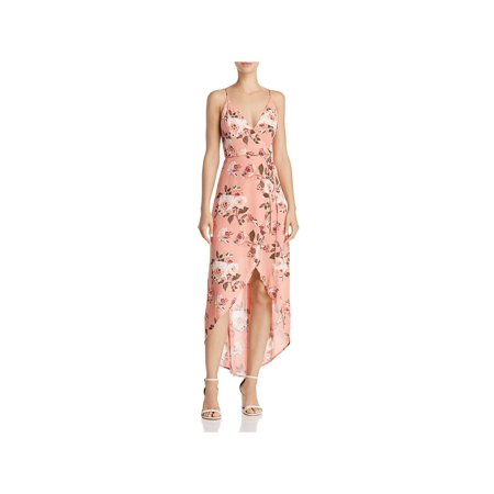 Cotton Candy Womens Hi-Low Floral Wrap Dress](Candy Skull Dress Up)