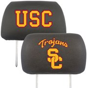 NCAA University of Southern California Trojans Head Rest Cover Automotive Accessory