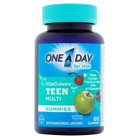 Bayer One A Day For Him Vitacraves Teen Multi Gummies  60 Ct