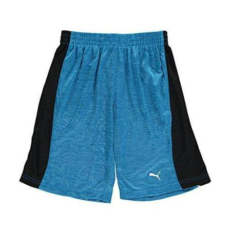 Puma Youth Boys Heather Shock Athletic Gym Basketball Shorts, Blue/Black Puma Lightweight Shorts