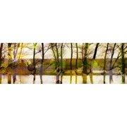 Parvez Taj Lake Trees Art Print on Premium Canvas