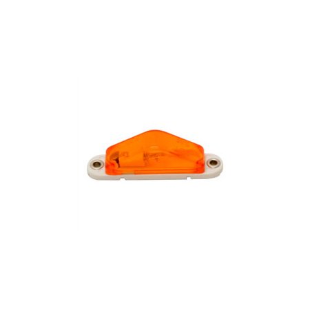 ROADPRO R RP-1247A 3 5X 75 MARKER LIGHT WITH REPLACEABLE BULB AND AMBER LENS  WHITE BASE