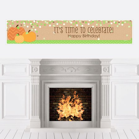 Pumpkin Patch - Fall Birthday Party Decorations Party Banner