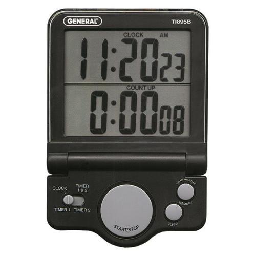 General Tools & Instruments TI895B Dual Timer - Clock With Jumbo Display