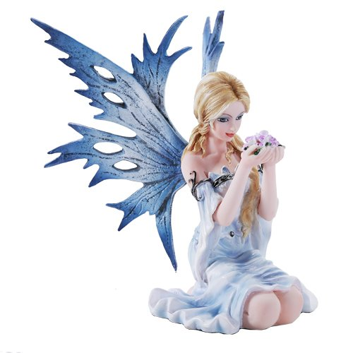 4.75 Inch I Need Coffee Fairy Sleeping in Cup Statue Figurine