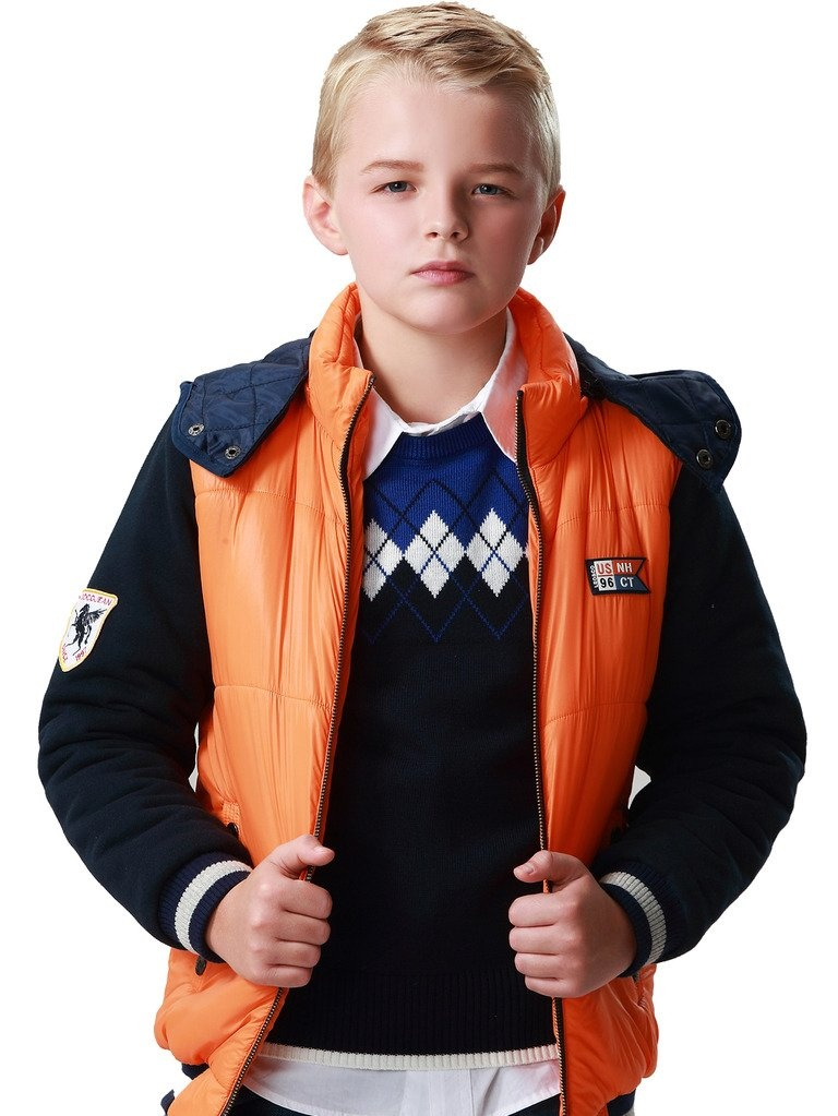 Leo&Lily Boys Winter Padded Puffer Jacket Outwear Coat W Fleece Sleeves