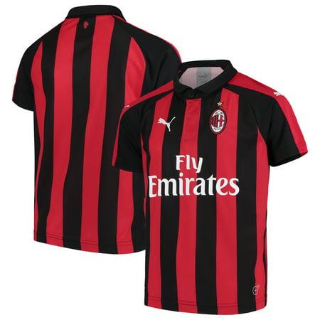AC Milan Puma Youth 2018/19 Home Replica Jersey - -