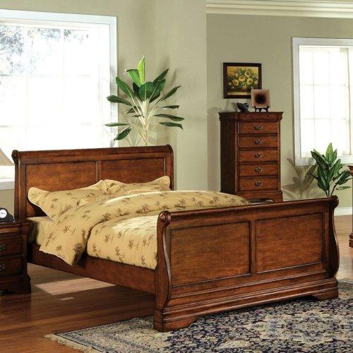 Furniture of America Hayward Sleigh Platform Bed