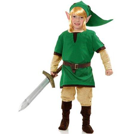 Legends of Zelda Elf Warrior Child Costume - Cheap Zelda Costume