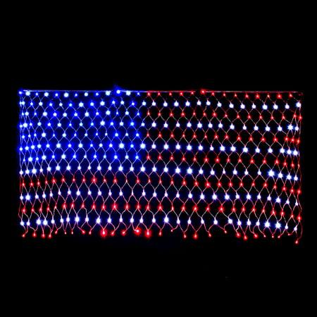 LED Flag Net Lights American For Outdoor Indoor Decoration Waterproof 6.6*3.3FT - image 5 de 8