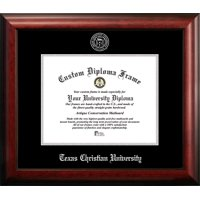 Texas Christian University 11w x 8.5h Silver Embossed Diploma Frame