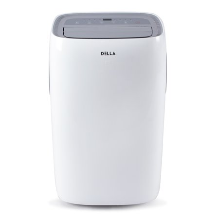 500 Base Unit - DELLA 14,000 BTU 115V Portable Air Conditioner LCD Remote Control For Rooms Up To 500 Sq. Ft., UL Listed