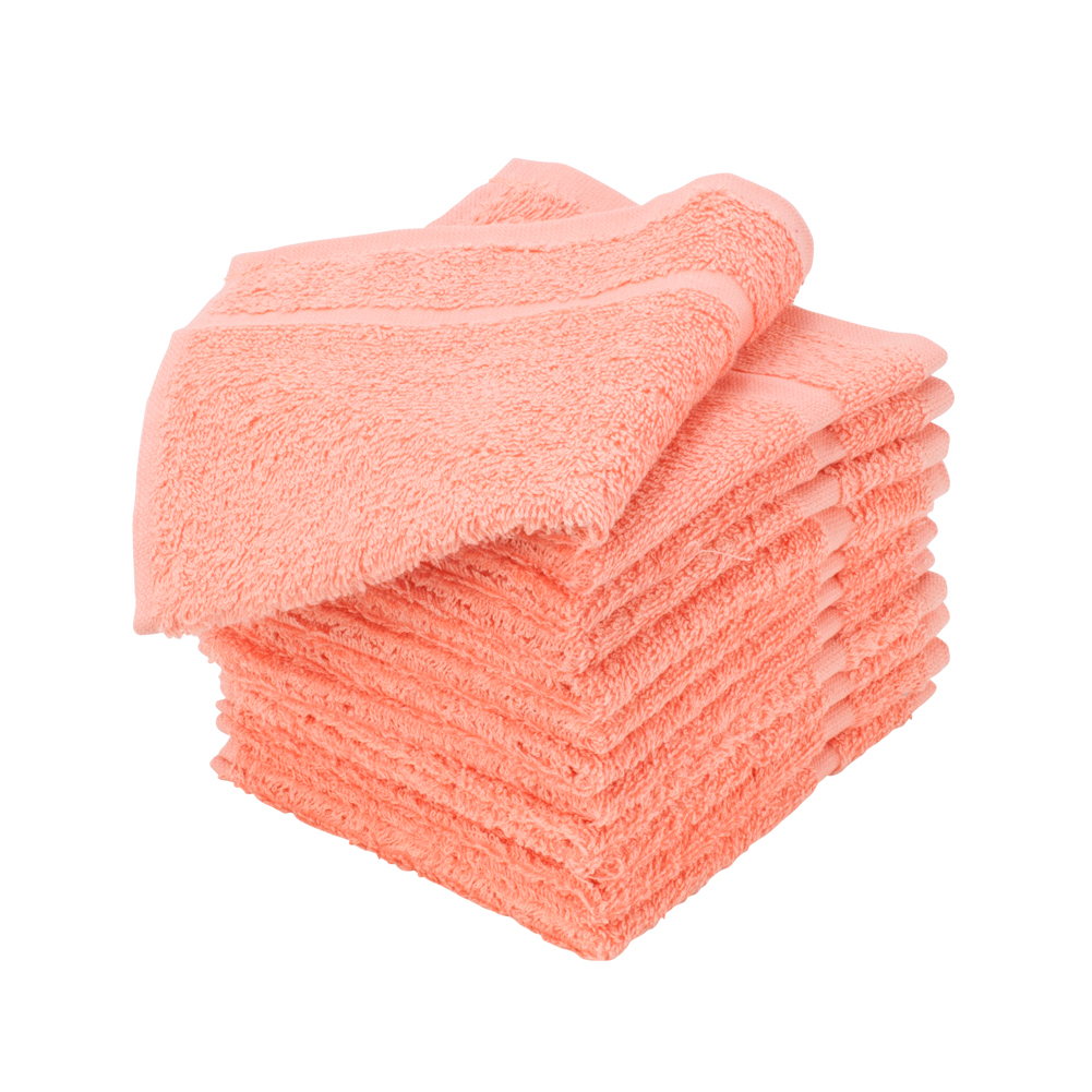 "1 Dozen Allure 100% Cotton Salon Spa Facial Drying Terry Cloth Towel 12""x12"" Set"