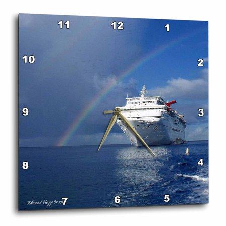 3Drose Cayman Island Rainbow On The Carnival Cruise Insperation  Wall Clock  13 By 13 Inch