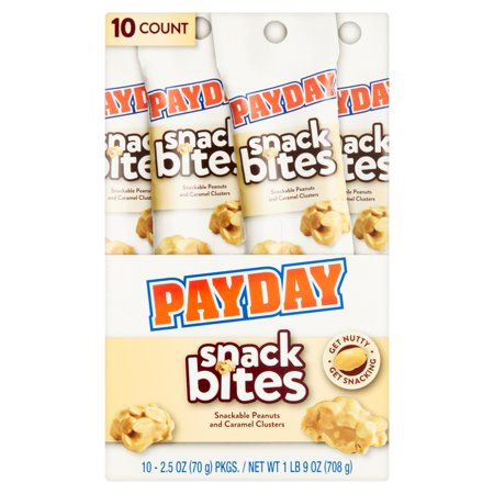 PayDay Snack Bites, 2.5 oz, 10 count - Halloween Snakes