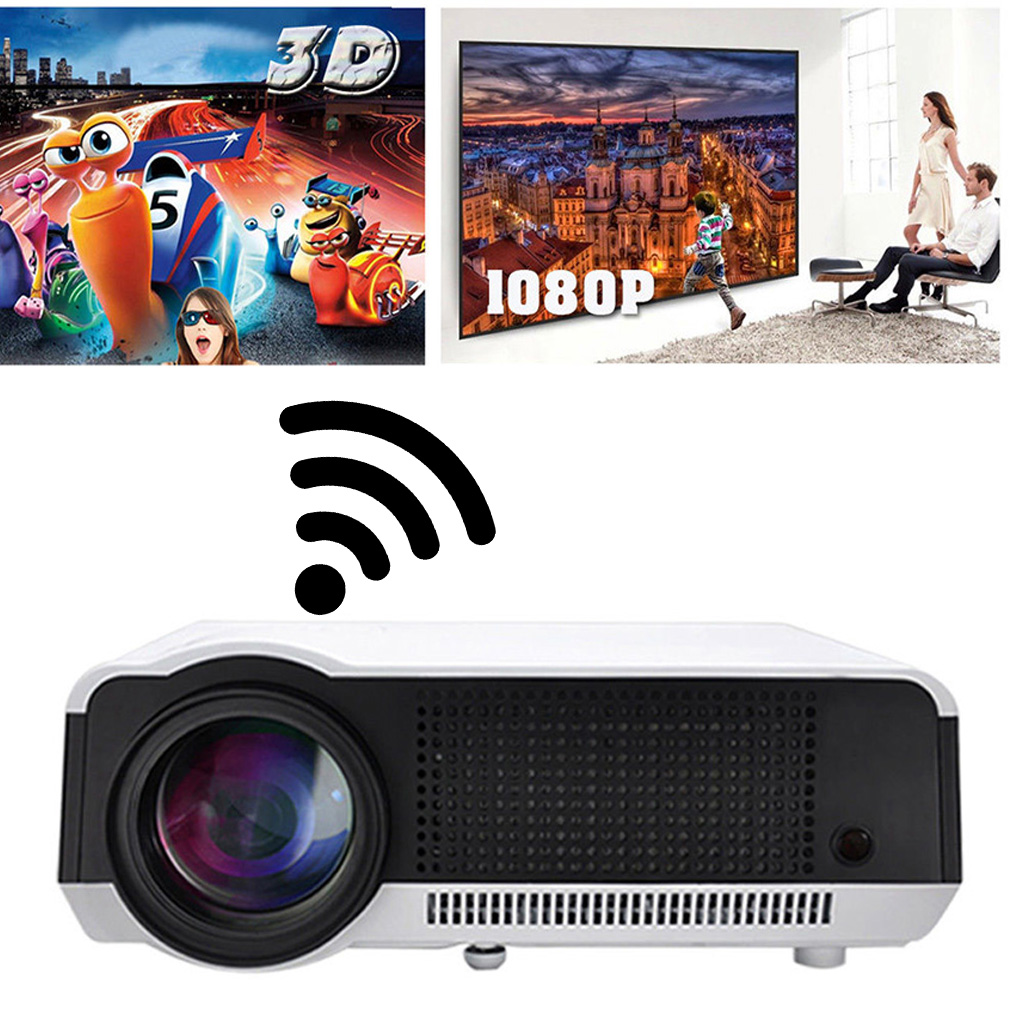 Portable 5000 Lumens Full HD 1080P Home Theater Cinema Pr...