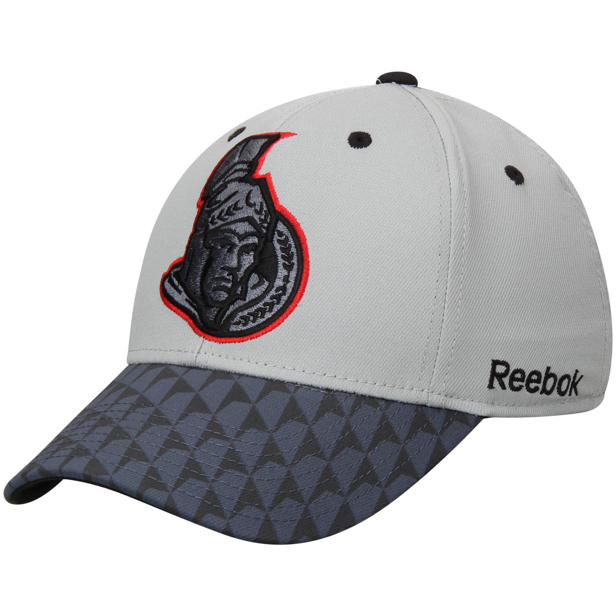 Ottawa Senators Reebok Crosscheck 2-Tone Structured Flex Hat - Gray