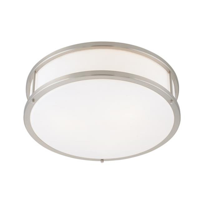 Access Lighting 50080LEDDLP-BS-OPL 16 in. Conga LED Brushed Steel Flush Mount Ceiling Light by Access Lighting