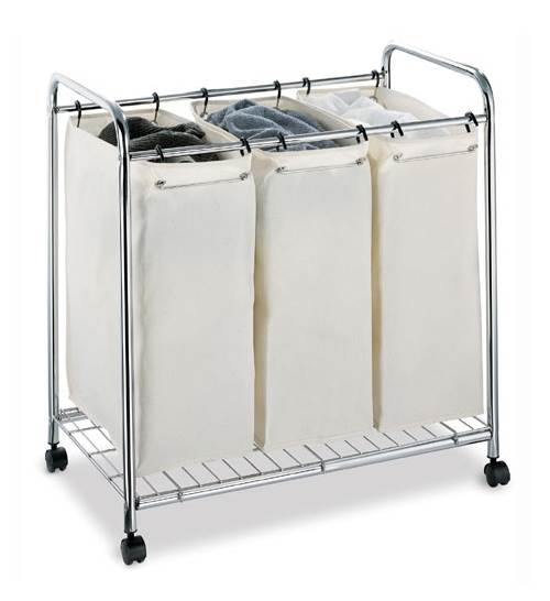 Chrome Plate Three Section Laundry Sorter