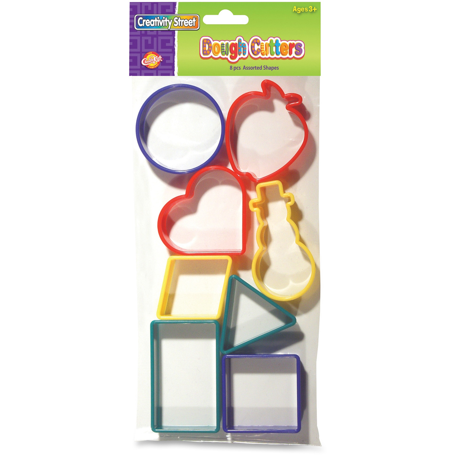 Creativity Street 8-Piece Shapes Dough Cutters, Assorted, 8 / Set (Quantity)
