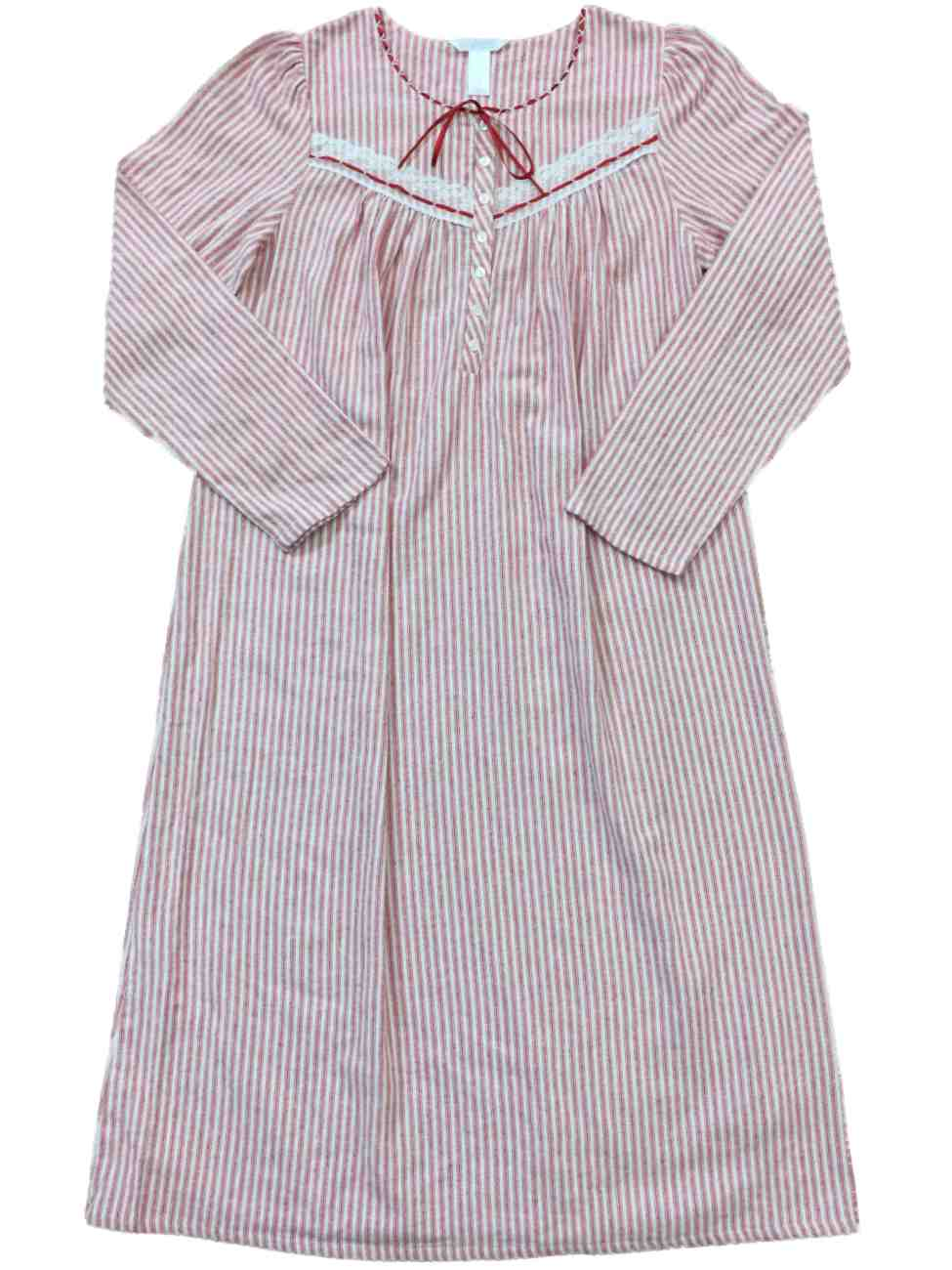 flannel nightgowns Striped