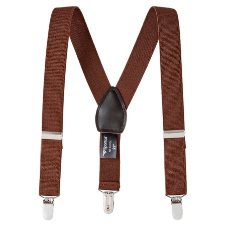 Sportoli Boys' and Girls' Kids Toddlers and Baby Adjustable Elastic Solid Color and Striped Fashion Suspenders for Wedding and Ring Bearer Outfits, Features Leather Crosspatch and Super Quality (Boy Or Girl Wedding Ring On String)