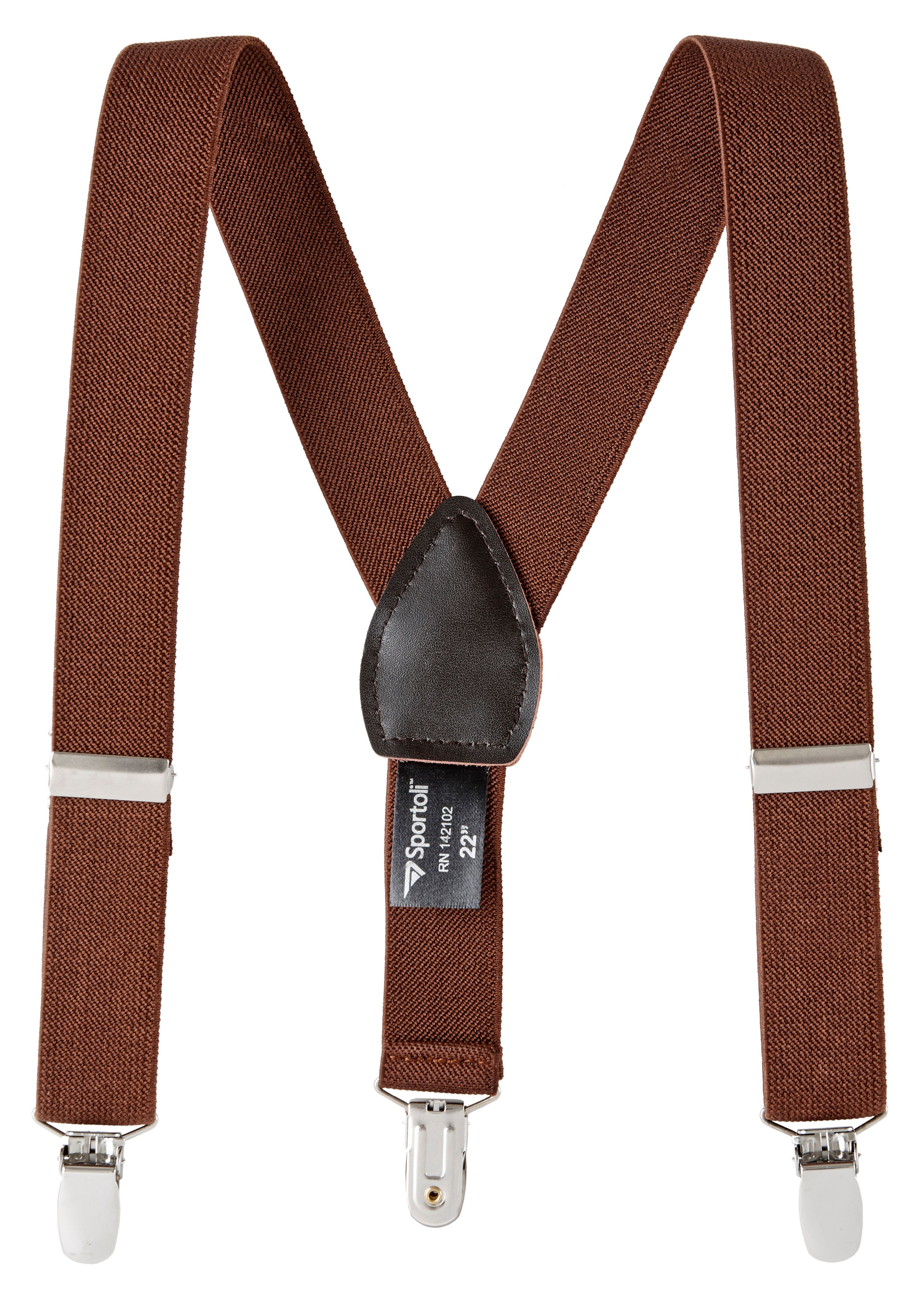 Sportoli Boys' and Girls' Kids Toddlers and Baby Adjustable Elastic Solid Color and Striped Fashion Suspenders for Wedding and Ring Bearer Outfits, Features Leather Crosspatch and Super Quality Clips