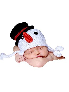 0919237b4c5 Product Image Baby Photography Prop Crochet Knitted Crochet Costume Snowman Hat  Caps By Xselector