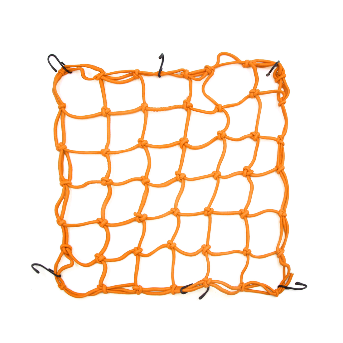40 x 40cm Orange Bungee Cargo Luggage Mesh Auto Car Motorcycle Goods Net